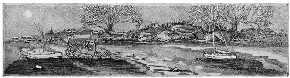 """November Nights"" etching aquatint, 1988, Margi Flint"